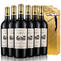 法国原瓶进口13.5度AOC级博维干红葡萄酒红酒整箱送礼袋送海马刀750ml*6