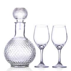 酒具套装(机制高脚玻璃酒杯315ml*2+醒酒器1000ml)