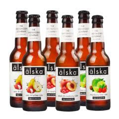英国进口alska艾斯卡配制酒果酒三口味组合330ml(6瓶装)