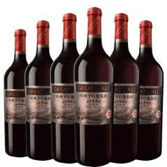 长城(GreatWall)红酒 星级系列 五星赤霞珠干红葡萄酒 整箱装 750ml*6瓶