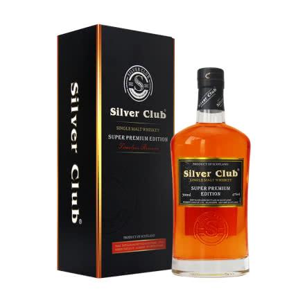 47°英国洋酒(原瓶进口)银杆俱乐部单一麦芽威士忌700ml礼盒装