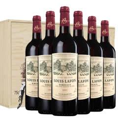 法国路易拉菲红酒珍藏原瓶原装进口波尔多AOP干红葡萄酒6支整箱礼盒装