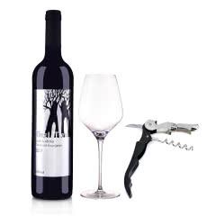 澳洲红酒澳大利亚丁戈树赤霞珠干红葡萄酒750ml +精美酒杯+酒刀