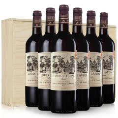路易拉菲红酒家族花园干红葡萄酒法国原装原瓶进口红酒整箱六瓶装礼盒木盒装