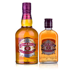 40°英国芝华士12年苏格兰威士忌500ml+200ml