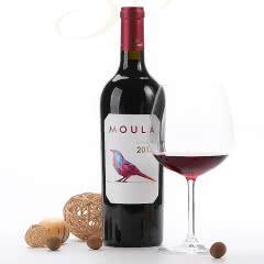 慕拉干红葡萄酒 酒度14.5度 赤霞珠梅洛混酿红酒 单支玻璃瓶750ml