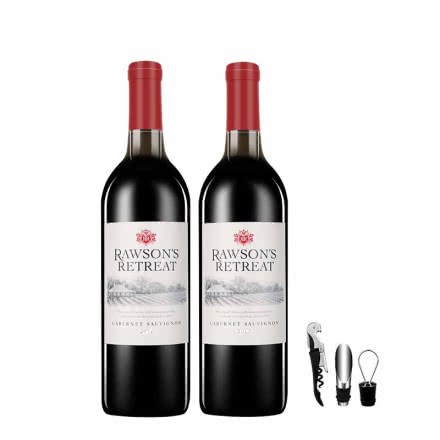 澳洲奔富原瓶进口红酒洛神山庄干红葡萄酒750ml*2双支装