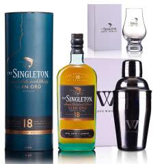 40°英国苏格登格兰欧德18年单一麦芽苏格兰威士忌700ml+尊尼获加五角杯+摇酒壶