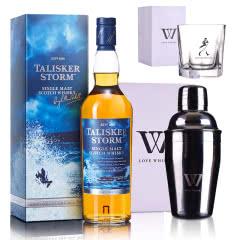 45.8°泰斯卡风暴系列单一麦芽苏格兰威士忌 700ml+尊尼获加五角杯+摇酒壶