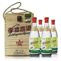 50.8°李渡高粱1975光瓶白酒500ml浓特兼香型礼盒*4瓶 送礼 纯粮酒