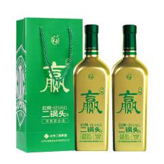 【酒厂直营】华都 北京二锅头(国安一起赢)53度500ml*2清香型白酒足球队定制礼盒酒