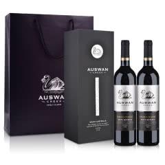 【红酒礼盒】澳洲红酒天鹅庄家族经典西拉干红葡萄酒黑色单支礼盒(双支装)