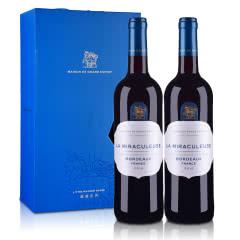 法国光之颂亿幻境系列波尔多红葡萄酒750ml*2双支礼盒