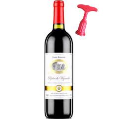 法国红酒(原瓶原装)进口红酒田园牧歌橡木桶陈酿干红葡萄酒750ml单支装
