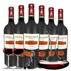 路易拉菲Louis Lafon原酒进口源自2009干红葡萄酒12度750ml*6瓶醒酒器套
