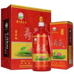 53°贵州茅台镇杜酱荷花酒喜庆版 香柔酱香型白酒 500ml*1瓶装