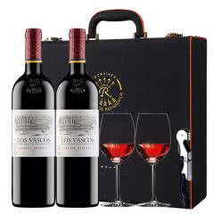 拉菲红酒 拉菲原瓶进口巴斯克花园珍藏干红葡萄酒红酒双支礼盒装750ml*2