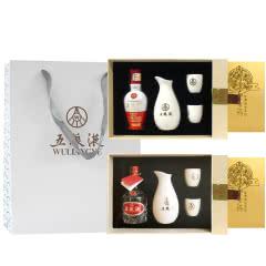 39°五粮液普五50ml酒版+52°五粮液1618酒版礼盒带分酒器酒具酒杯