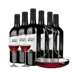 法国原瓶进口红酒龙船远洋号波尔多加仑河畔AOP级干红葡萄酒红酒整箱750ml*6