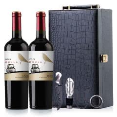 慕拉(MOULA)红酒橡木桶干红葡萄酒赤霞珠梅洛干红双支礼盒750ml*2