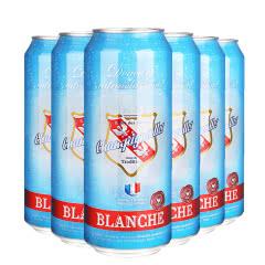 新品推荐法国进口啤酒法盾浪漫果香白啤酒500ML(6听装)