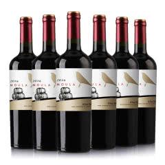 慕拉(MOULA)整箱红酒橡木桶金鸟干红葡萄酒赤霞珠梅洛干红750ml*6