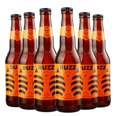 BUZZ蜂狂精酿橙香小麦啤酒330ml(6瓶装)