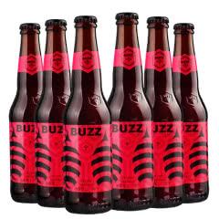 BUZZ蜂狂精酿车厘子小麦啤酒330ml(6瓶装)