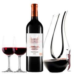 (列级庄·名庄·副牌)法国红酒波亚克碧尚男爵庄园男爵古堡副牌2010干红葡萄酒750ml