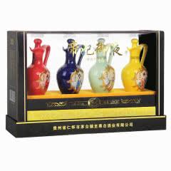 52°贵州茅台镇浓香型白酒整箱帝妃御液125ml(4瓶装)