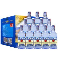 42°永丰北京二锅头出口型小方瓶蓝瓶 清香型纯粮食白酒 500ml(12瓶整箱装)