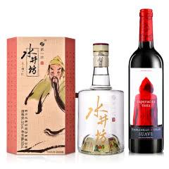 52°水井坊·三国系列(义勇仁)500ml+西班牙小红帽干红葡萄酒750ml