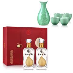 40°五粮液(股份)永不分梨375ml*2+青瓷精品酒具(贵宾尊享)