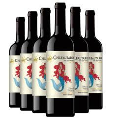 智利中央山谷产区人鱼系列干红葡萄酒整箱750mlx6