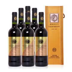 法国 沙特尔顿1688干红葡萄酒(波尔多AOC级别)整箱装*6