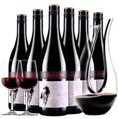 张裕先锋澳洲原酒进口红酒拉赛庄园G70干红葡萄酒红酒整箱醒酒器装750ml*6