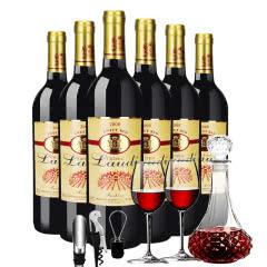 法国原酒进口 罗蒂弗诗妮红葡萄酒甜红750ml*6瓶装