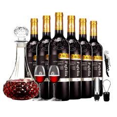 【法国原瓶进口】法菲妮·伯爵干红葡萄酒750ml*6瓶装