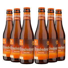 比利时进口精酿啤酒火枪手游吟诗人琥珀啤酒330ml(6瓶装)