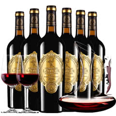 法国原瓶进口红酒拉斐天使庄园干红葡萄酒整箱醒酒器装750ml*6