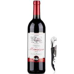 法国红酒原瓶进口超级波尔多法定产区AOC/AOP级干红葡萄酒750ml单支装