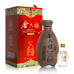 50.8°金六福六年壇川酒子母酒兼香型纯粮白酒400ml+50ml单瓶装