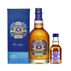 40°英国芝华士18年苏格兰威士忌700ml+小酒50ml