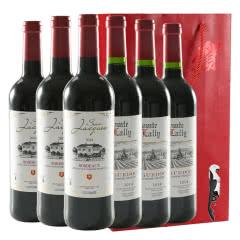 法国原瓶进口 波尔多 AOP级 肖克波尔多+拉瑞子爵干红葡萄酒红酒整箱750ml*6