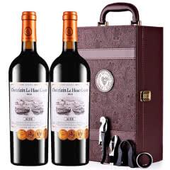 张裕先锋红酒 乐高贵族城堡庄主珍藏干红葡萄酒 法国原瓶进口 双支礼盒装750ml*2