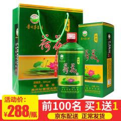 【京东配送正常发货】杜酱荷花酒 53度香柔酱香型白酒 500ml(单瓶装)