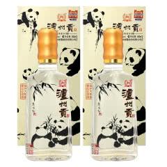 52度泸州老窖 泸州贡白酒 保护大熊猫爱心纪念版 500ml*2瓶 浓香型白酒