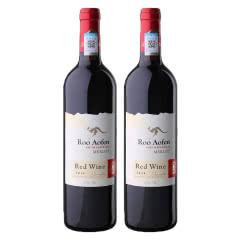 澳大利亚原瓶进口红酒澳芬袋鼠王王梅洛红葡萄酒750ml*2