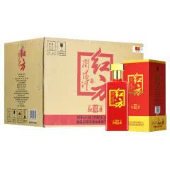 浏阳河红方10浓香型白酒50度粮食酒婚宴礼盒 500ml*6整箱装