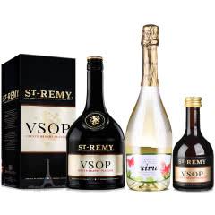 40°法国圣雷米VSOP白兰地700ml*1+【包邮】西班牙春梦半甜白起泡葡萄酒750ml